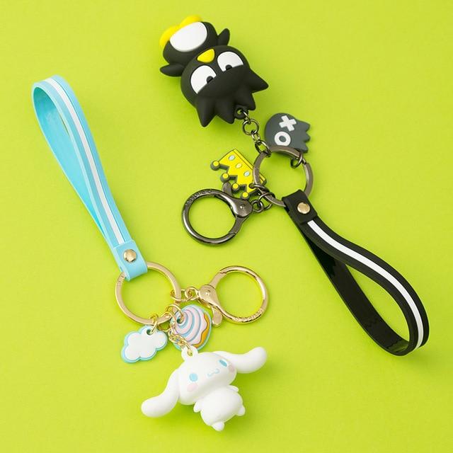 Cartoon Cute Hello Kitty Doll KT Cat Keychains Women Girls Charm Bags key chain  Accessories Pendant Car  New Key ring 2019 2
