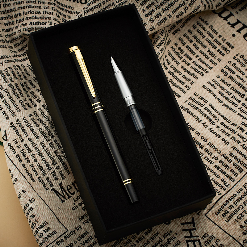 все цены на High-end Gold Sword Clip Fountain Pen Winning 601 Hooded Nib Metal Black/Grey 0.5mm Luxury Gift Pens for Business and Student онлайн