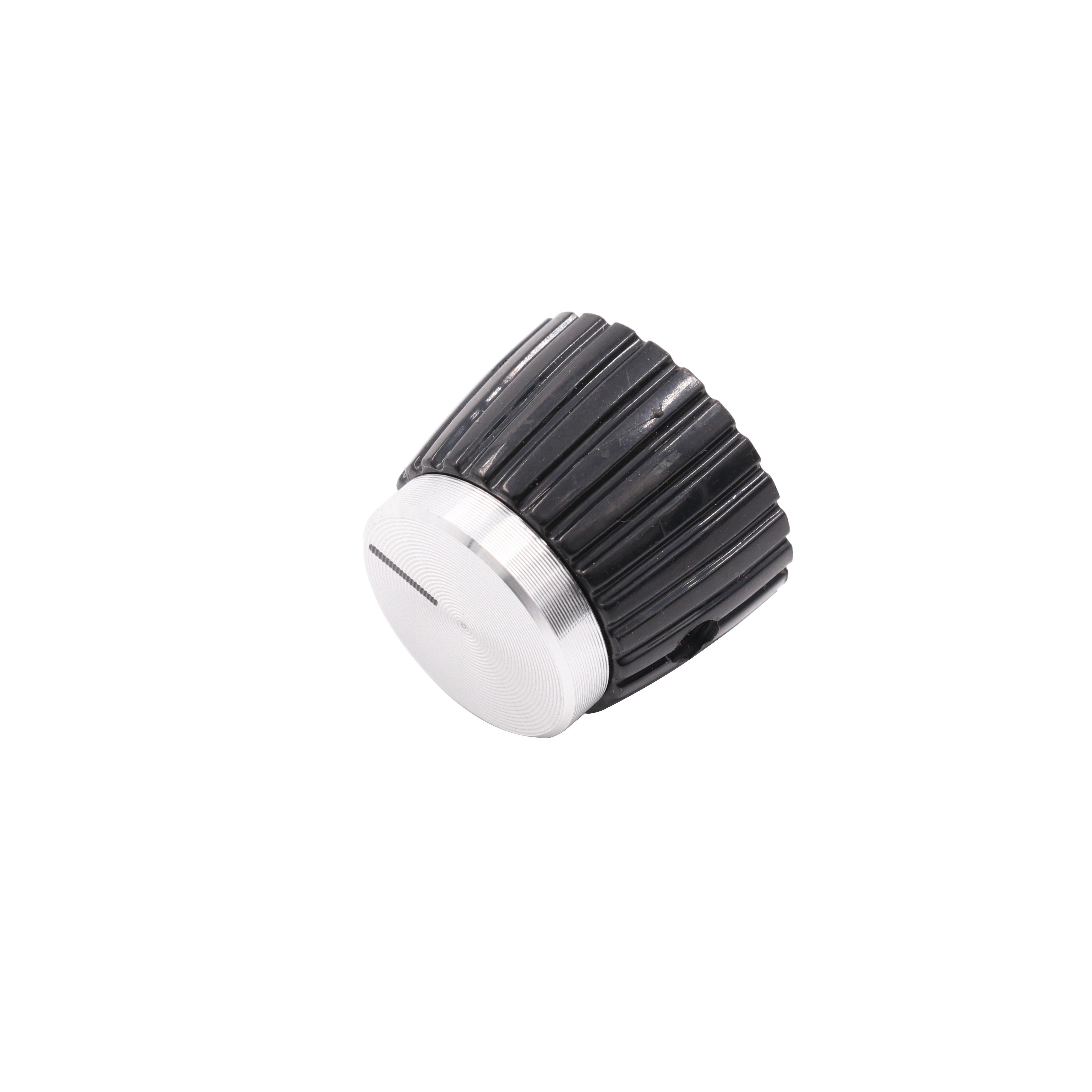20pcs Red Indication 6mm Shaft Hole Knurled Grip Potentiometer Pot Knobs Caps PB