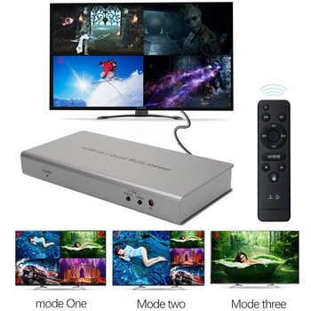 4X1 HDMI Switch Multi-viewer HDMI Quad Screen splitter Real Time Multiviewer Game HDMI seamless switcher function full 1080P 3D