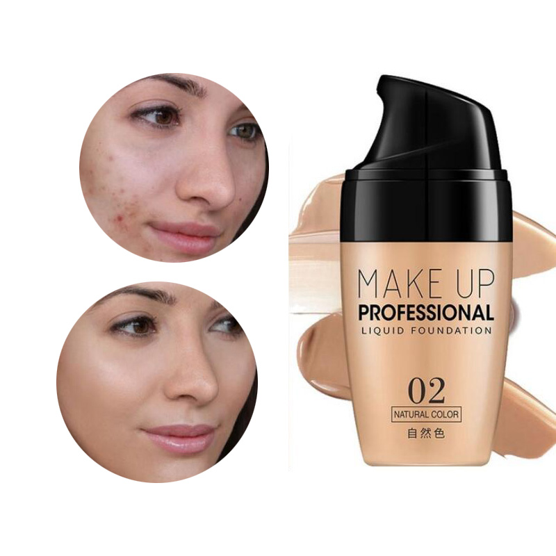 Beauty Face Foundation Cream Waterproof Long-lasting Concealer Liquid Professional Makeup Full Coverage Matte Base Make Up image