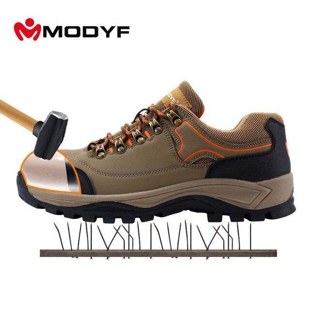 MODYF/Мужская Рабочая обувь со стальным носком, простые Нескользящие уличные кроссовки, обувь с защитой от проколов