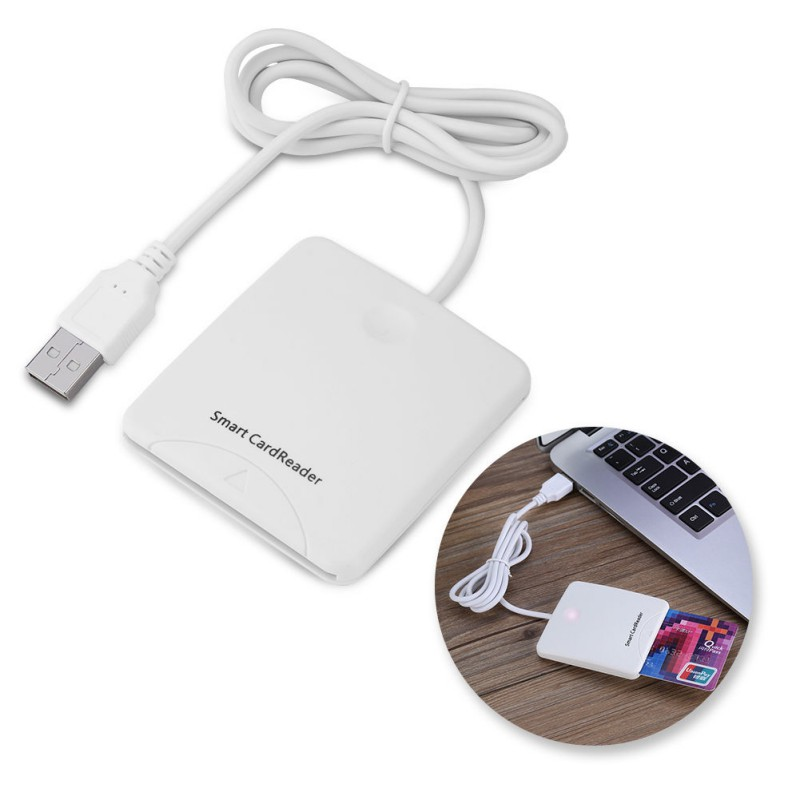 Portable USB Smart Chip Card IC Credit Card Reader Encoder Writer with SIM Slot for Windows for 2000 XP or Mac OS X Linux image