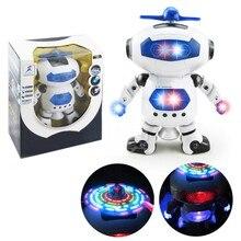Смешно Электронный Прогулки Танцы Smart Space Робот Астронавт Дети Музыка Света Игрушки монтессори материалы Бесплатная Доставка