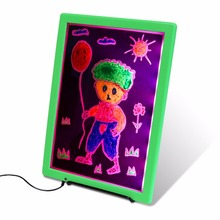 Wholesale LED Luminous Children Drawing Board Ultra Thin Drawing Painter Graffiti Scrawl Painting Board For Indoor Display