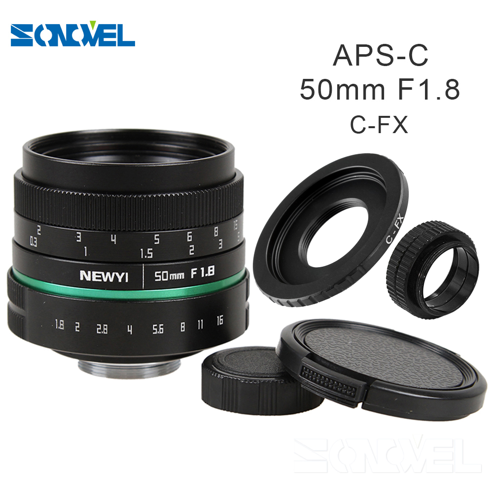 Camera lens 50mm f1.8 APS-C Multi-coated Movie Lens+C Mount for Fujifilm FX Camera X-T10 X-T2 X-PRO2 X-PRO1 X-E2 X-E1 X-M1 X-A2 fujifilm x t10 kit 16 50mm 50 230mm серебристый