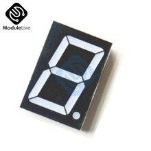 10 Spilli 10 P 1.8 pollici 1 Bit Cifre Scavare Rosso Display A Led 7 Segmenti Catodo Comune Digital Display Elettronico PCB Consiglio Modulo Fai Da Te