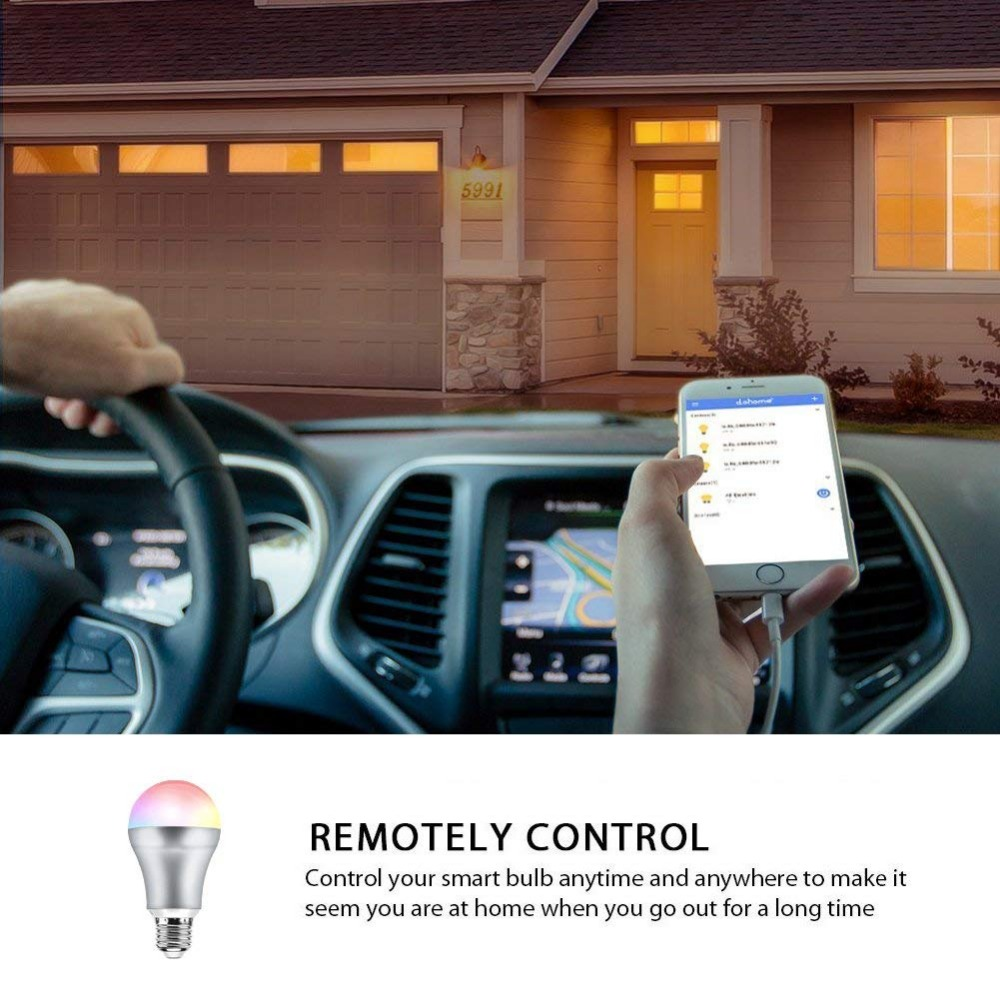 CR60 Led E27 Wifi Smart Light Bulb 7W 110V 220V B22 Led Light Colorful APP WIFI Remote Control Google Home Lamp Bulb E14 Decor