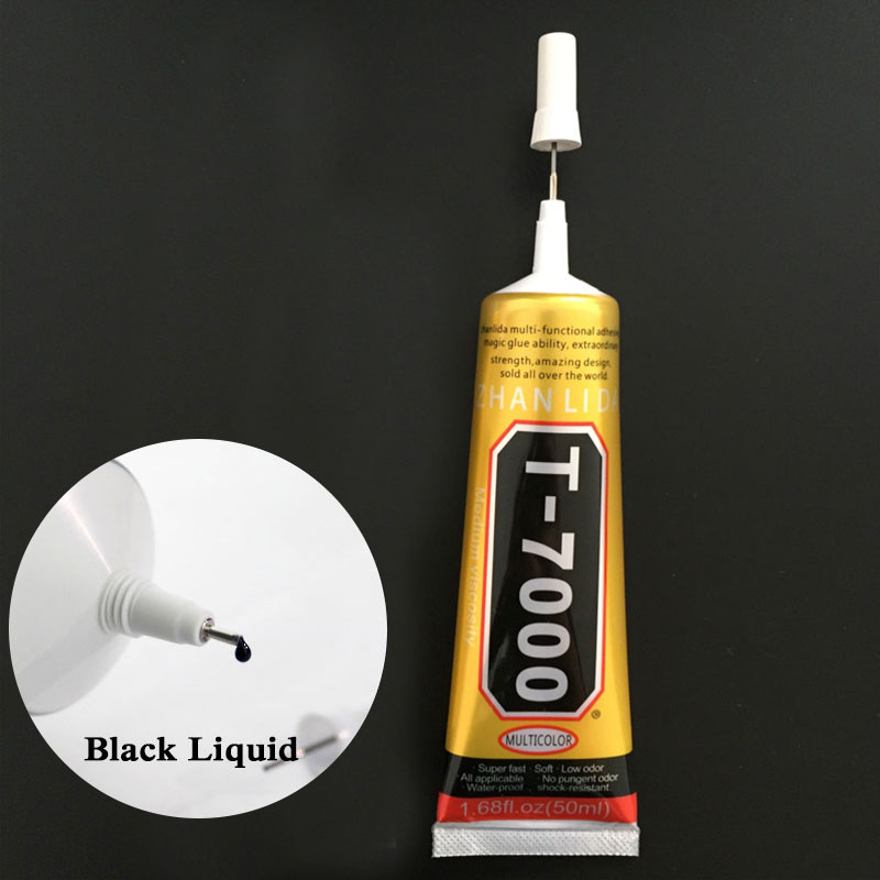 50ml T7000 Glue Multipurpose Adhesives Super Glue T-7000 Black Liquid Glues For Diy Crafts Glass Phone Case Metal Fabric