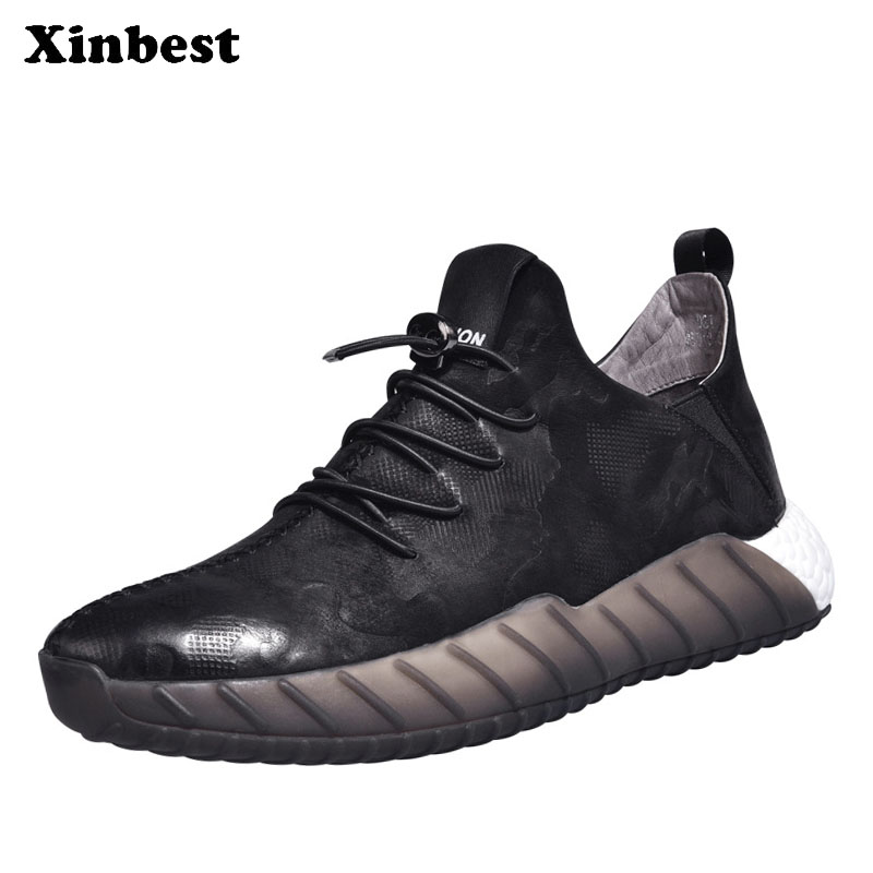 Xinbest running shoes Man Brand Outdoor Athletic Men Running Shoes Outdoor Jogging Sport Shoes For Men Cow Leather running shoe кардиометр running