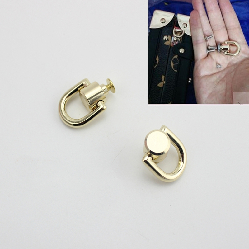 10pcs/50pcs Bag Hanger DIYhardware Accessories On Both Sides Of The Screw D Ring D Buckle Bag The Package Chain Metal