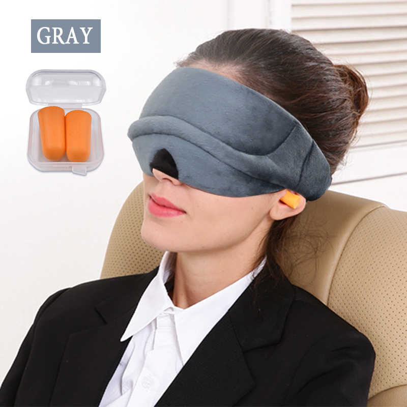 24b20e2be 3D Sleep Mask Natural Sleeping Eye Mask Eyeshade Travel Eye Patch Soft  Portable Women Men Eyepatch