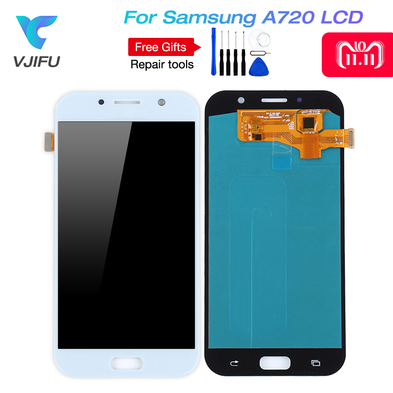 OLED Phones Display For Samsung Galaxy A7 2017 A720 A720F A720M LCDs Touch Screen Digitizer Assembly LCD Replacement + toolsOLED Phones Display For Samsung Galaxy A7 2017 A720 A720F A720M LCDs Touch Screen Digitizer Assembly LCD Replacement + tools