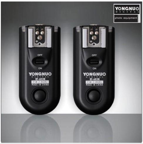 Prix pour Yongnuo RF-603 N3 II, RF603 RF 603 Flash Trigger 2 Émetteurs-récepteurs pour NIKON D600 D90 D5000 D5100 D3100 D7000
