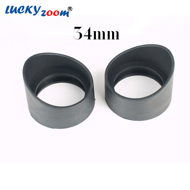 Luckyzoom 2 Pcs/Set 34mm Diameter Rubber Eyepiece Cover Guards for Biological Stereo Microscope Telescope Monocular Binoculars 75x 945x vertical monocular head biological microscope with huygenian eyepiece 15x txs01 07