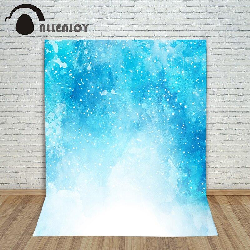 Christmas photographic background Bokeh snow blue snowflakes new year photo vinyl cloth children