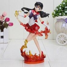 19cm Anime Figuarts Zero Sailor Moon Sailor Mars Hino Rei 20th Anniversary PVC Action Figure Collectible Model Toy