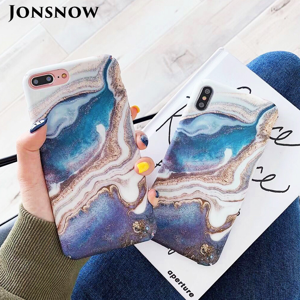 KIPX1093_1_JONSNOW Marble Pattern Phone Case for iPhone XS XR XS Max 7 8 Plus 6S 6 Plus Case Fashion All-inclusive PC Hard Back Cover Capa Fundas