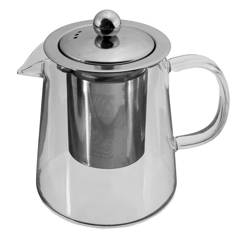 600ml Tea Pot Coffee Kettle Coffee Teapot Glass Dripper Coffee Pot Teapot Convenient Home Office Teaset