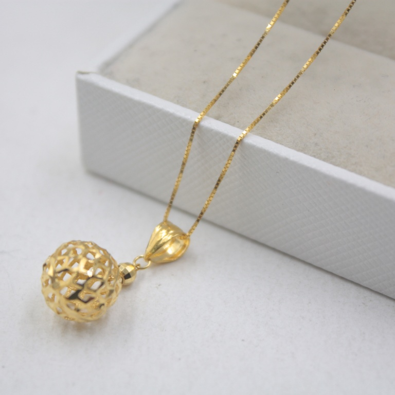 Pure 18K Yellow Rose Gold Pendant Hollow Ball Womens Lucky Pendant Best Gift 0.6-0.9g Jewelry Lady Pure 18K Yellow Rose Gold Pendant Hollow Ball Womens Lucky Pendant Best Gift 0.6-0.9g Jewelry Lady