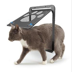 Image 4 - 애완 동물 문 새로운 안전한 잠글 수있는 자석 스크린 옥외 개 고양이 창 문 집은 자유롭게 들어간다 유행 예쁜 정원 쉬운 설치