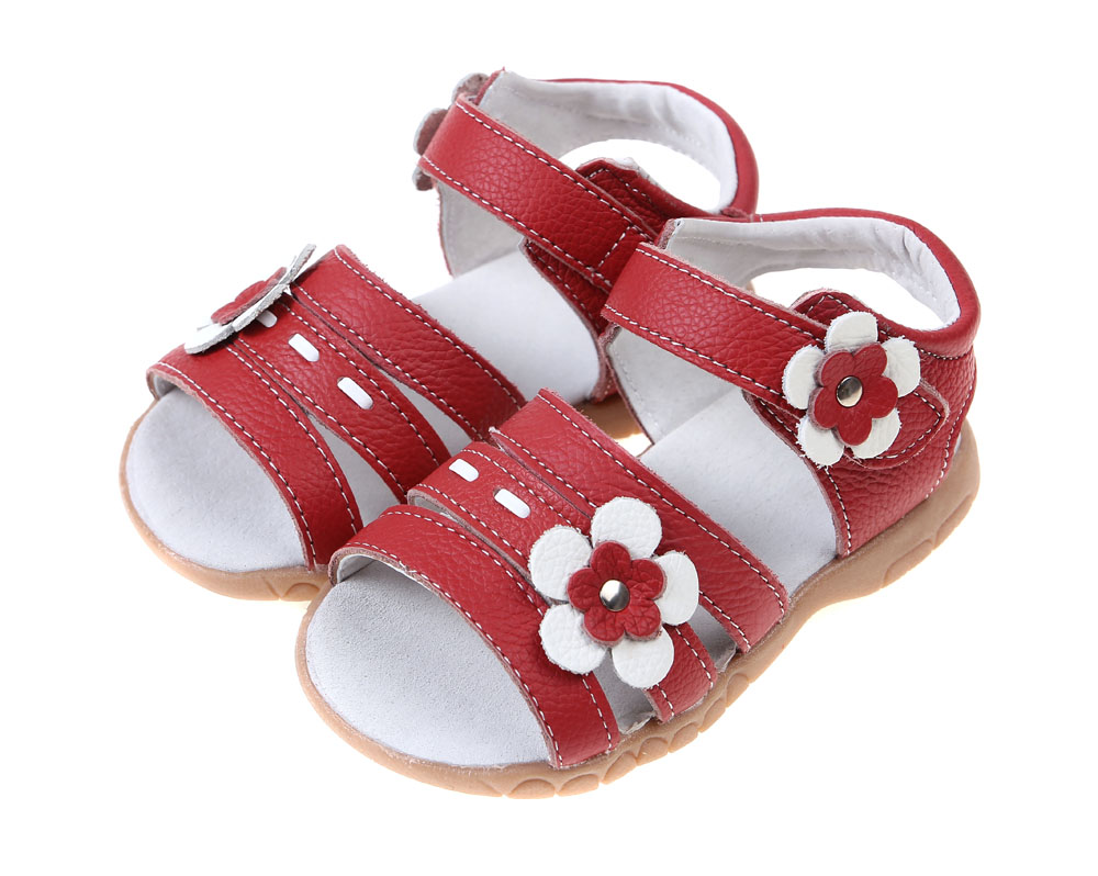 Sandq Baby Leather Shoes The Sandal Girls Pink Open Toe Girls