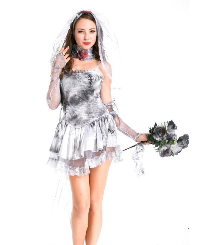 Novedad Sexy Halloween ropa femenina película americana novia de Chucky  loaded Cosplay disfraz tamaño libre para Halloween gran venta en Disfraces  fiestas ... dbe27bccd5ee