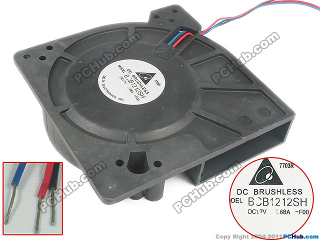 Delta Electronics BCB1212SH -F00 Server Square Fan DC 12V 2.68A 3-wire free shipping for sunon gb1207ptv2 a 13 b4396 f gn dc 12v 2 2w 3 wire 3 pin connector 70mm 70x70x25mm server square cooling fan