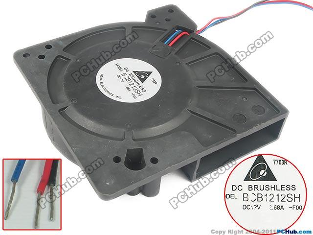Delta Electronics BCB1212SH -F00 Server Square Fan DC 12V 2.68A 3-wire free shipping for delta afc0612db 9j10r dc 12v 0 45a 60x60x15mm 60mm 3 wire 3 pin connector server square fan