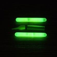 100pcs/50bags Green Night Fishing Light LED Fluorescent Dark Glow Sticks Fishing Luminous Float For Fishing Camping Boating