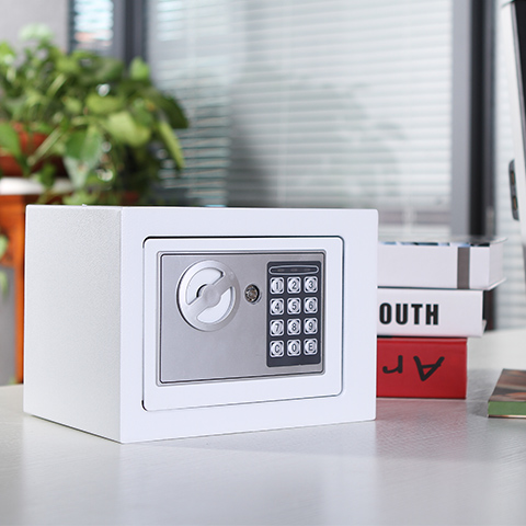 4 Color Steel Professional Safety Box Digital Surface Electronic Lock Home Office Wall Type Jewelry Money Security Key Safe