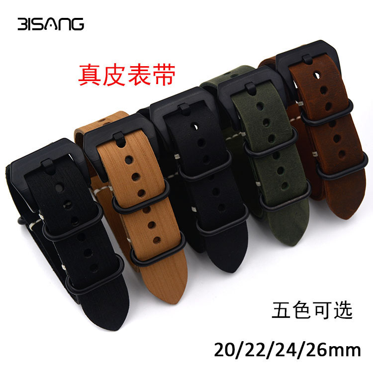 New replacement for Garmin Fenix 3 Watch Band Strap crazy horse leather nato 20mm/22mm/24mm26mm jansin 22mm watchband for garmin fenix 5 easy fit silicone replacement band sports silicone wristband for forerunner 935 gps