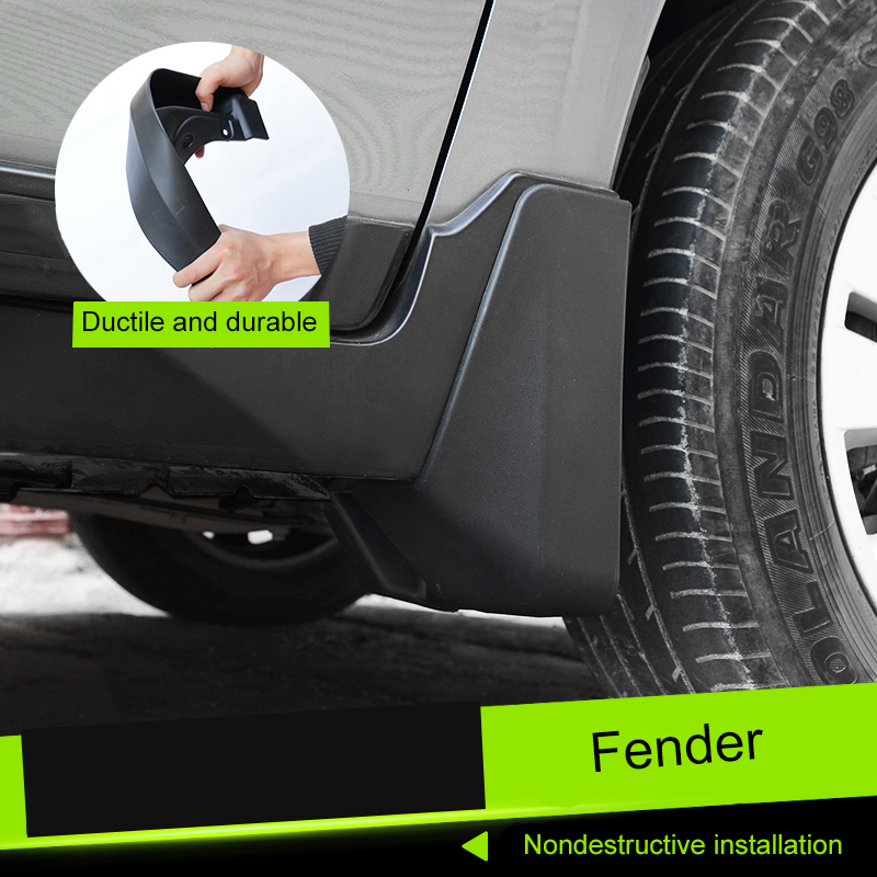 QHCP 4Pcs Set Car Mudguards Fender Wheel Rear Mud Flaps Splash Guards Engineering Plastic For Subaru