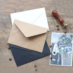 100 шт. Ретро простая бумага открытка конверт 16,2*11,4 см конверты для приглашений kraft бумага волокна три цвета пустой
