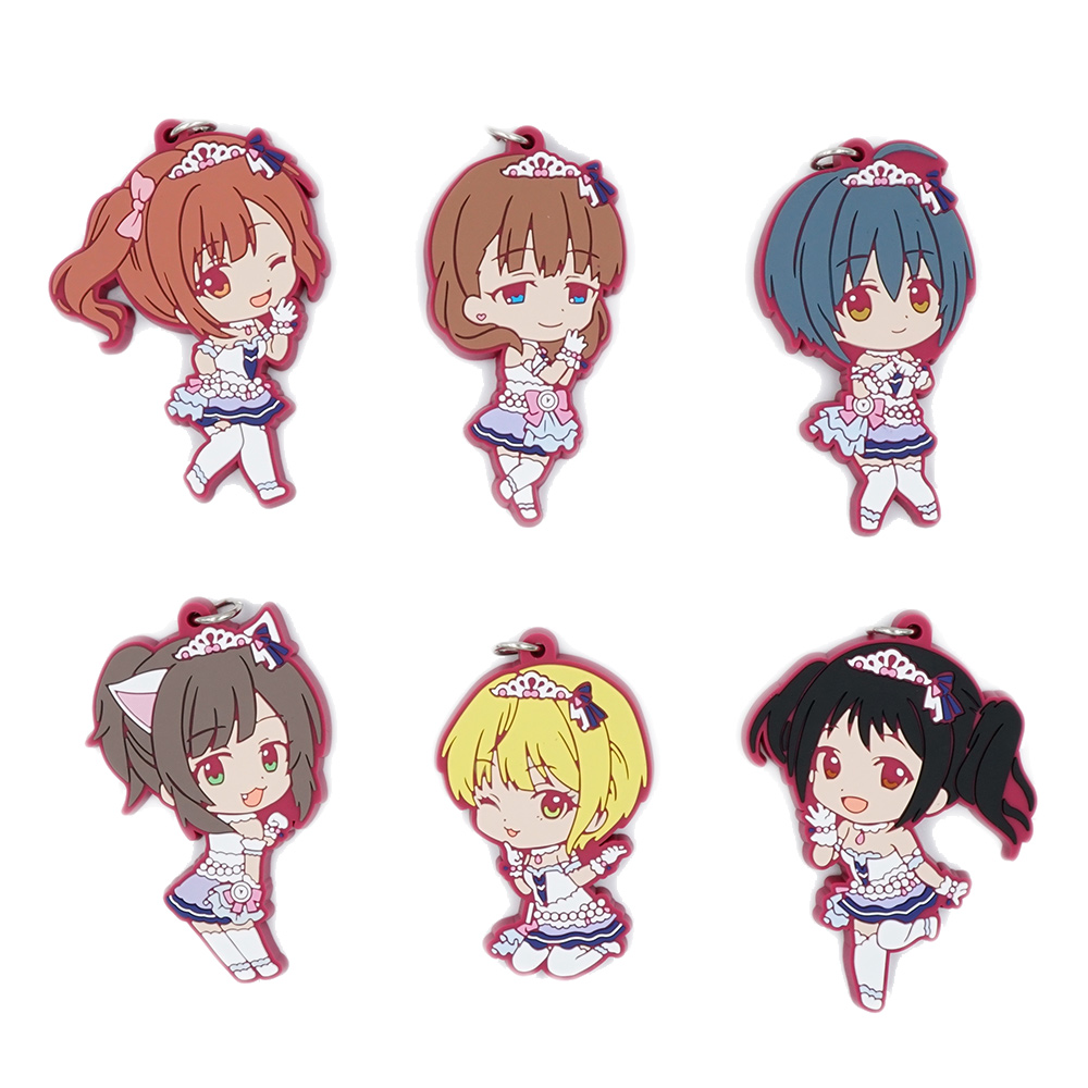 THE IDOLM@STER CINDERELLA PROJECT Anime Idol Master Dancing Ver Japanese Rubber Keychain ensemble stars anime idol high school game team trickstar bean eye ver japanese rubber keychain