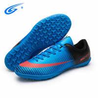 ZHENZU futbol superfly calcio stivali bambini ragazzi a buon mercato scarpe da calcetto scarpe da calcio da ginnastica voetbal chaussure de foot