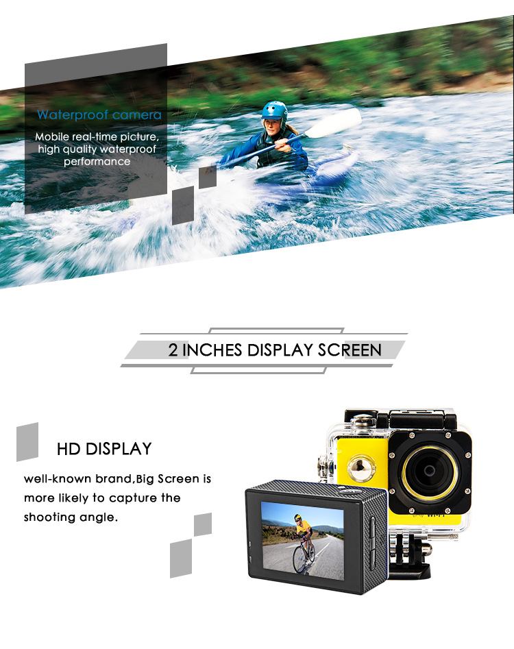 Action Kamera Ultra Hd 4 K/25fps Wifi 2,0 170d Unterwasser Wasserdichte Helm Video Aufnahme Kameras Sport Cam Sport & Action-videokameras
