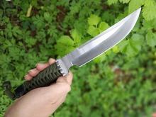 Fox Fixed Blade Knives,8CR14MOV  Blade cutter Rope handle Tactical Knife,EDC Outdoor Straight Survival Tools