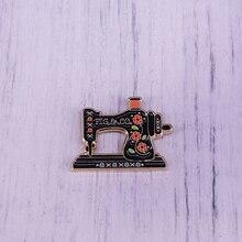 Máquina de coser Vintage esmalte Pin higo árbol esmalte Pin Retro máquina de coser pin