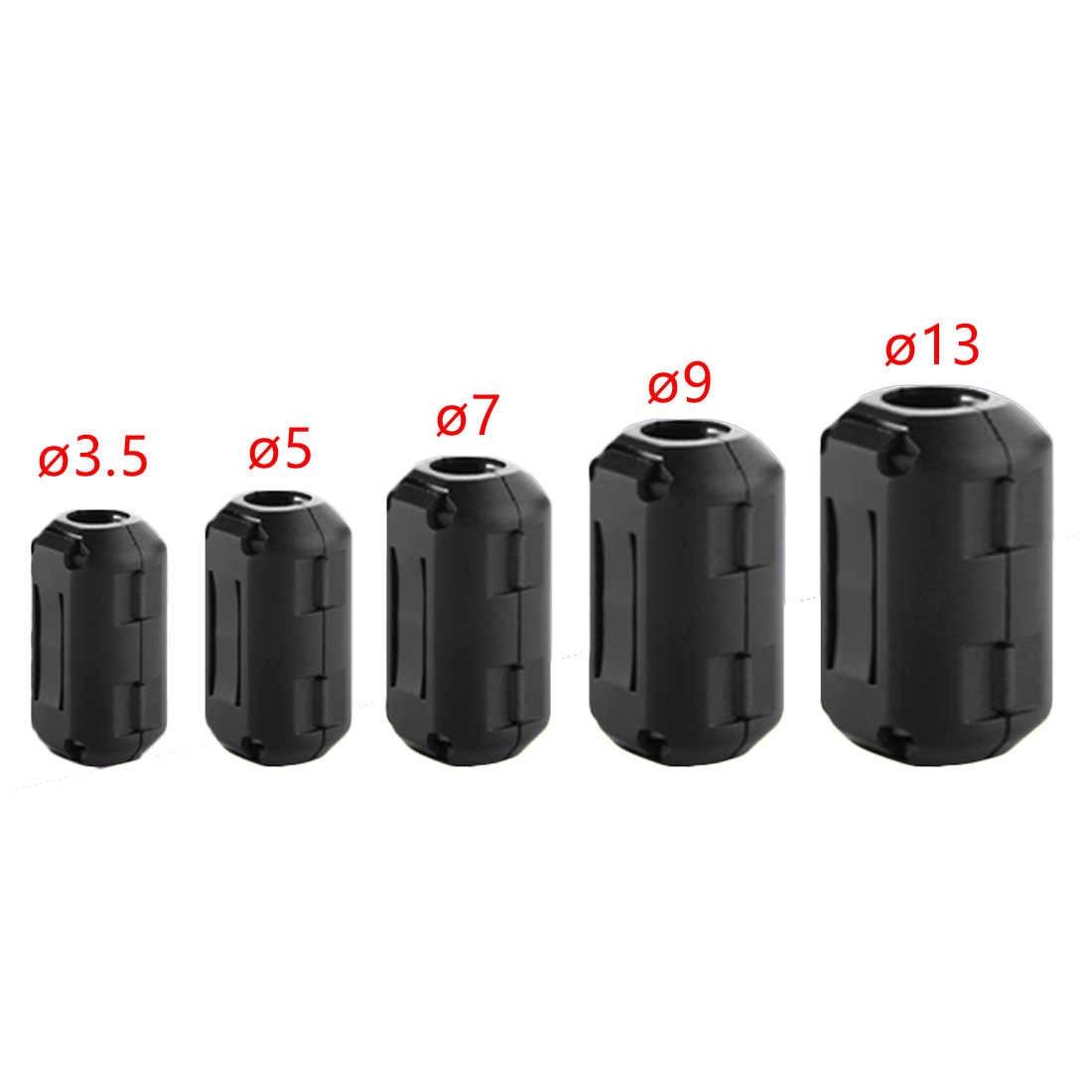 5pcs 3.5 millimetri Nero Cavo Nucleo di Ferrite Filtro Nichel-zinco Noise Suppressor per la EMI RFI Clip Choke di Ferrite filtri