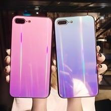 50 pçs brilhante holográfica iridescente laser caso de telefone para vivo x9/x9s vivo x20 plus arco íris brilhante tpu casos capa traseira conchas
