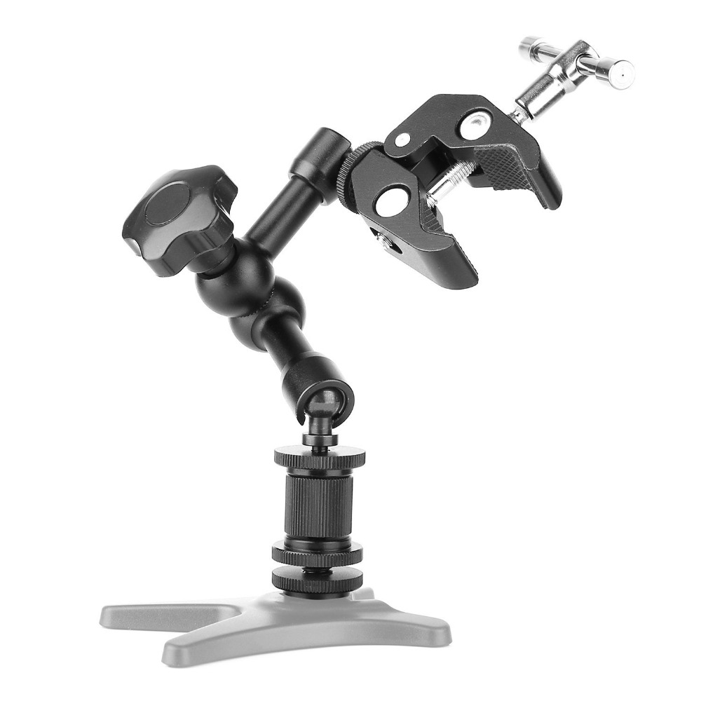 High quality 11inch Adjustable Friction Articulating Magic Arm + Super Clamp For DSLR LCD Monitor LED Light Camera Accessories
