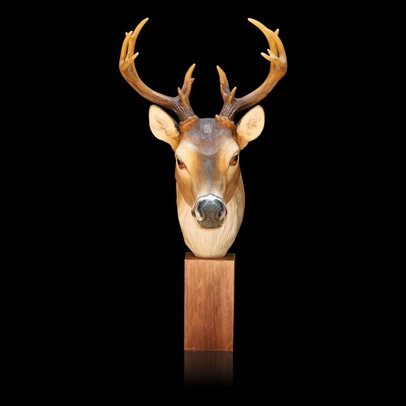 Nowy przyjazd!! Unikalny produkt elegancki Deer ozdoby głowy ełk dekoracja żywica akcesoria do domu symulowane zwierzę najlepszy prezent w Figurki i miniatury od Dom i ogród na  Grupa 2