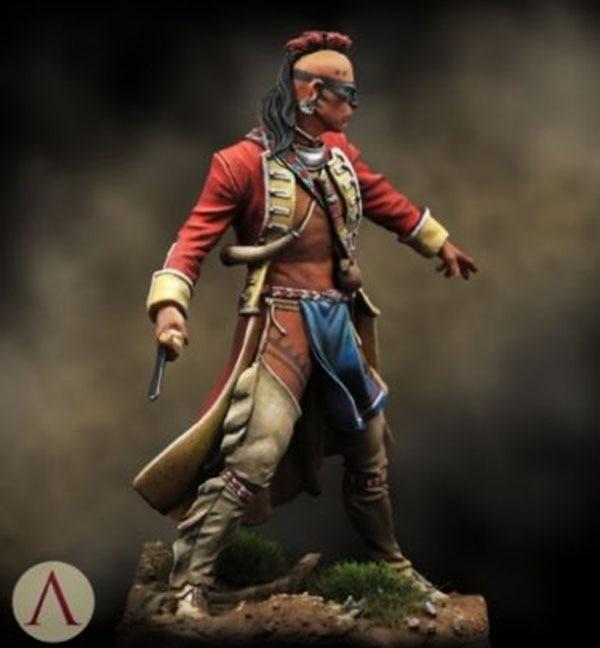 1/24 75mm Ancient Warrior Standing Man 75mm    Resin Model Miniature  Figure Unassembly Unpainted
