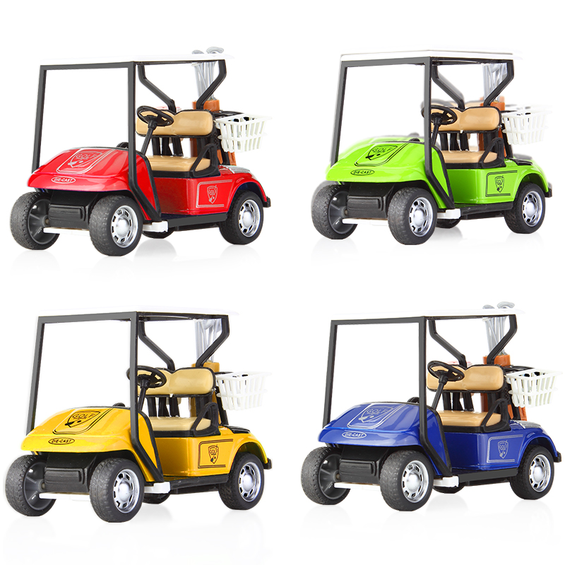 1:36 Vehicles Toy High Simulation Golf Cart Alloy Pull Back Car Kids Children Toys Gifts