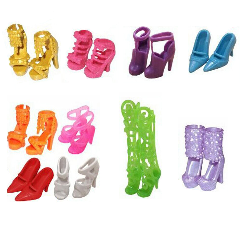 NK-Hot-Sell-26-ItemSet10-Pcs-Mix-Sorts-Beautiful-Party-Clothes-Fashion-Dress6-Plastic-Necklac10-Pair-Shoes-For-Barbie-Doll-4