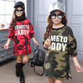 2017 Thick Warm Spring Fall Winter Girls Pullover Clothes Long Sleeve Camouflage Baby Girls Sweatshirt Tops Kids Hoodies JW1155