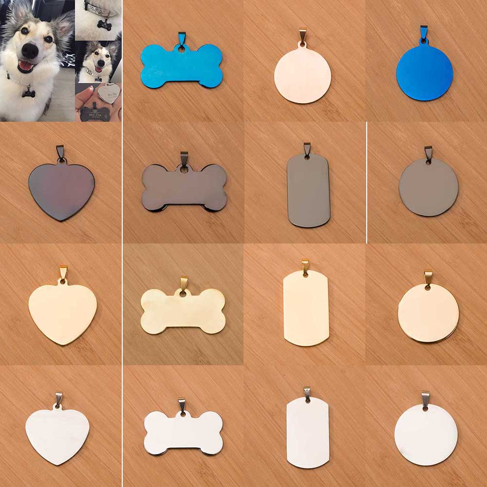 Hipidog Free Engraving Dog Tags Pet Collar Accessories