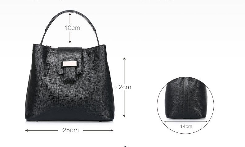 women genuine leather handbag 8