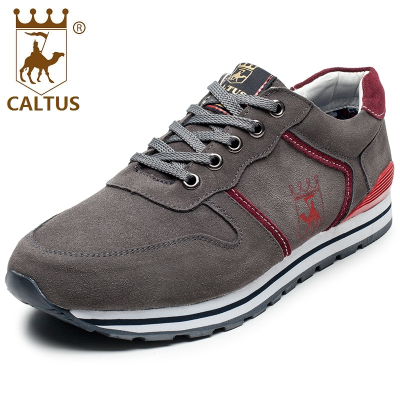 CALTUS Leather Men Casual Shoes 2017 Lace Up Flats Men Shoes Good Quality Working Shoes Size 38-44 AA20547 male casual shoes soft footwear classic flats men genuine leather shoes good quality working shoes size 38 44 aa30059